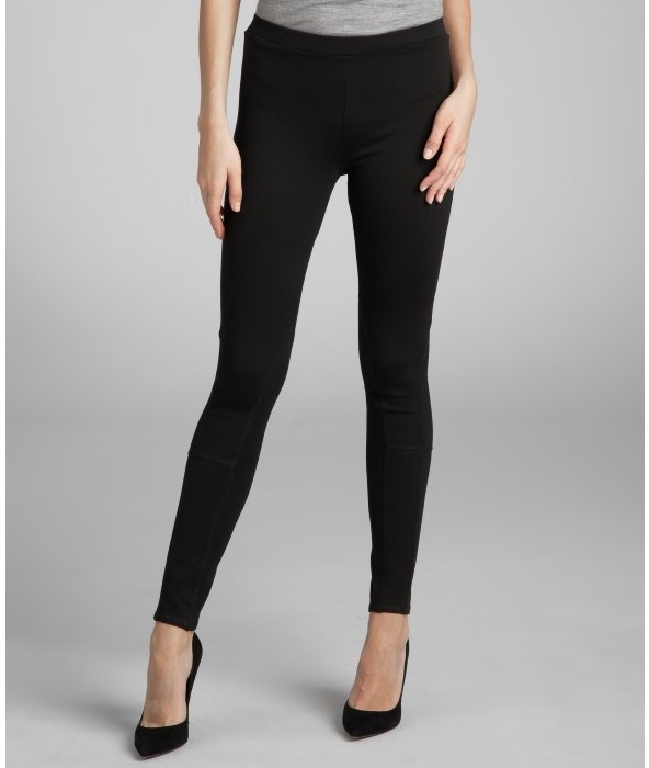 Romeo & Juliet Couture black stretch seam detail leggings