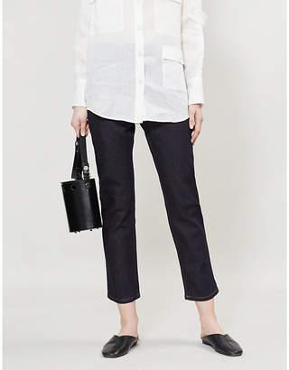 Joseph Den high-rise slim-fit stretch-denim trousers
