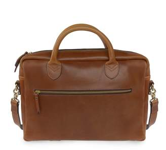 VIDA VIDA - Luxe Tan Leather Laptop Bag