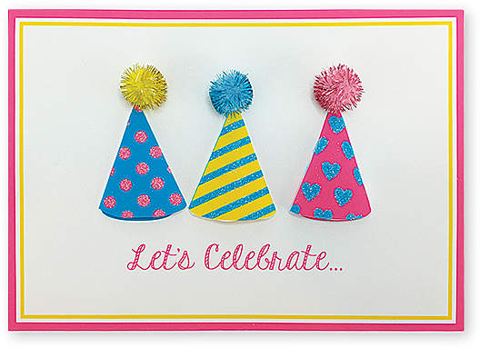 Party Hats On! Birthday Card - Set of Six