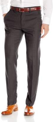 Haggar Men's Performance Micro Heather Gab Slim Fit Plain Front Pant