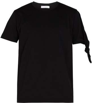 J.W.Anderson Knotted Cotton T Shirt - Mens - Black