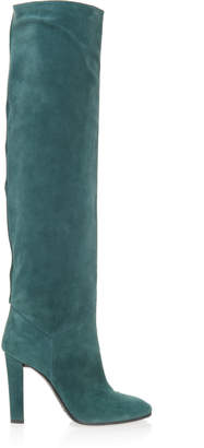 Alberta Ferretti Over-The-Knee Suede Boots