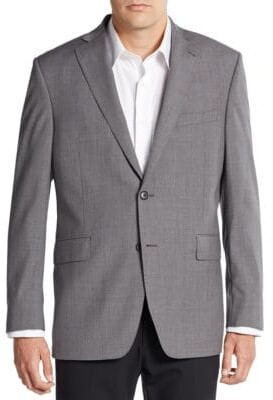 Saks Fifth Avenue Slim-Fit Two-Button Wool Sportcoat