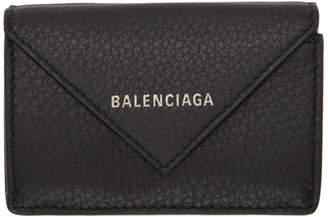 Balenciaga Black Mini Papier Wallet