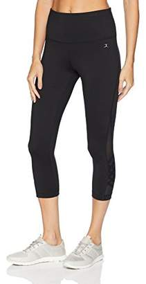 Danskin Women's High Waist Capri Legging with Criss Cross Ankle