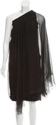 Christian Dior Pleated One-Shoulder Dress