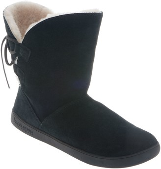 Koolaburra By Ugg by UGG Suede Tie Back Short Boots - Shazi