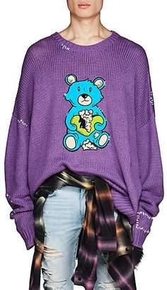 Amiri Men's Teddy Bear Oversized Sweater - Purple