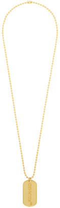 Off-White Off White SSENSE Exclusive Gold Logo Dog Tag Necklace