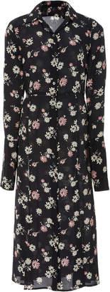 Les Rêveries Silk Shirt Dress W/Slits