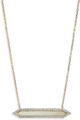 Shashi Mariah Pave Crystal Bar Pendant Necklace
