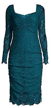 Milly Women's Lisa Stretch Lace Long Sleeve Dress