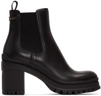 Prada Black Heeled Chelsea Boots