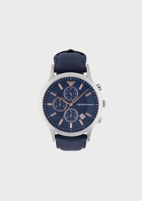 Emporio Armani Man Chronograph Leather Watch