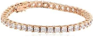 Swarovski Sterling Silver Zirconia Asscher Tennis Bracelet