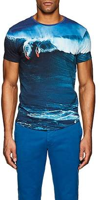 Orlebar Brown MEN'S SURF-PRINT COTTON T-SHIRT - BLUE SIZE XL