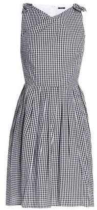 Raoul Wrap-Effect Gingham Cotton-Poplin Mini Dress