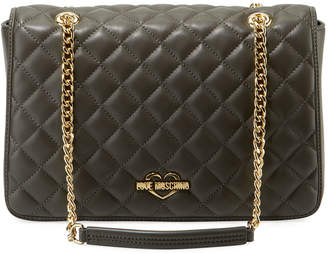 Love Moschino Slim Quilted Chain Shoulder Bag