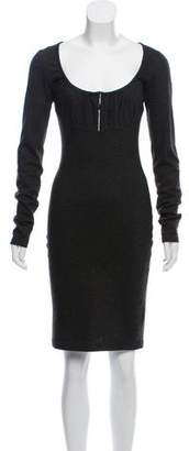 DSQUARED2 Long Sleeve Knee-Length Dress
