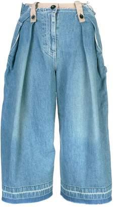 Sacai wide-leg denim culottes