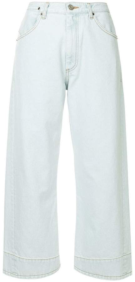 We11done cropped straight-leg jeans