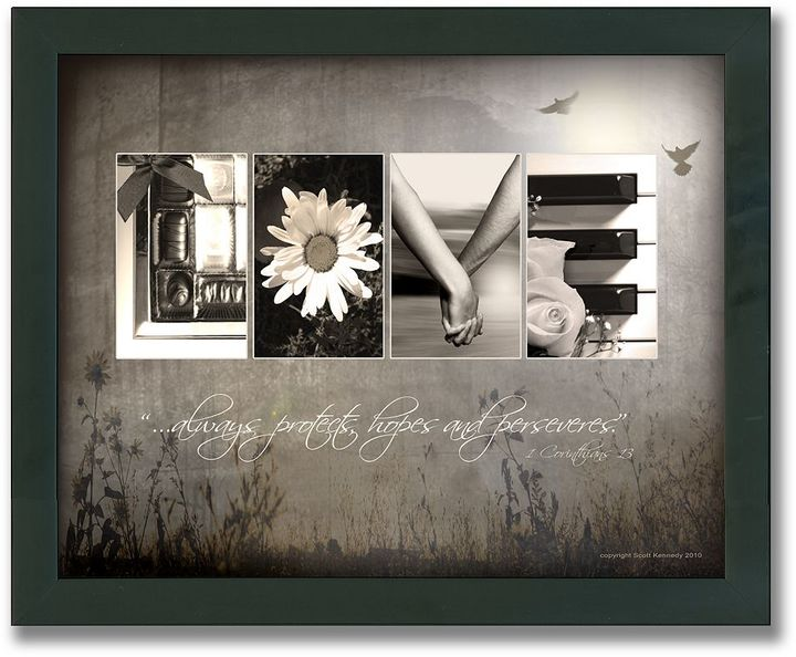 "Personal-prints ""Love Letters"" Framed Canvas Art"