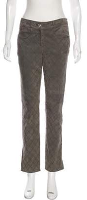 Chanel Mid-Rise Quilted Pants Grey Mid-Rise Quilted Pants