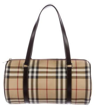 Burberry London Nova Check Handle Bag $275 thestylecure.com