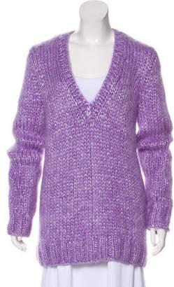 Michael Kors Mohair Metallic Sweater