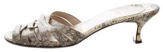 Christian Louboutin Lizard Slide Sandals