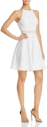 Aqua Eyelet Fit-and-Flare Dress - 100% Exclusive