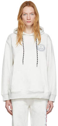 adidas By Alexander Wang by Alexander Wang Grey Graphic Hoodie