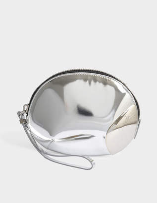 Giuseppe Zanotti Shooting Clutch Bag in Silver Leather