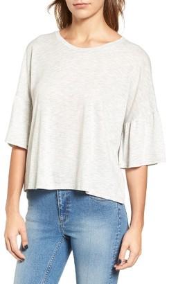 Women's Lush Ruffle Sleeve Tee $35 thestylecure.com