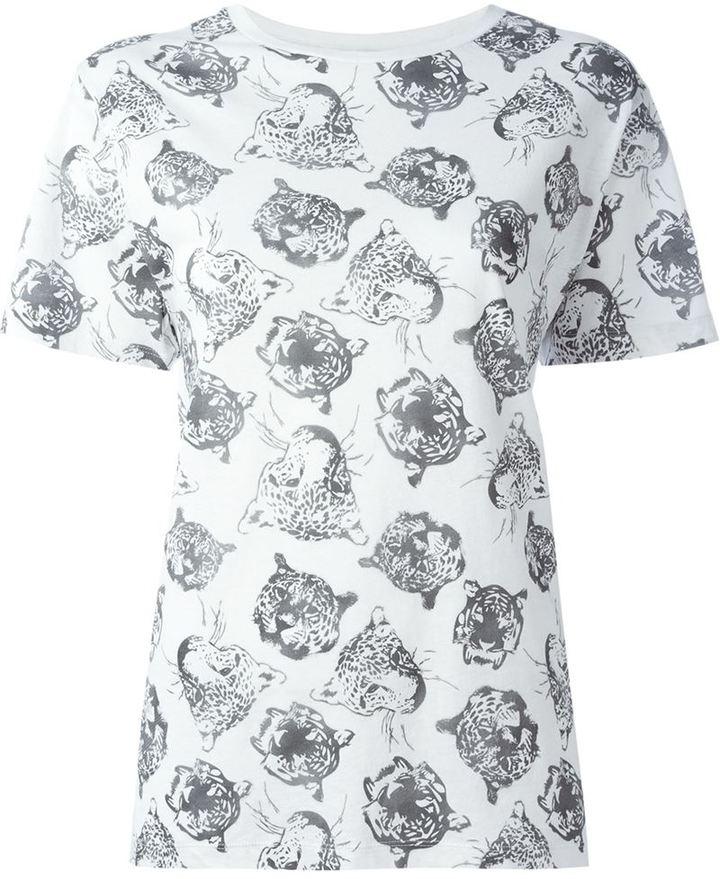 Saint LaurentSaint Laurent tiger print T-shirt