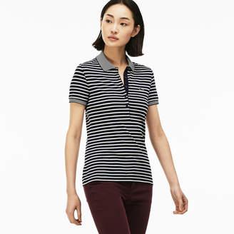 Lacoste Women's Slim Fit Striped Mini Piqué Polo