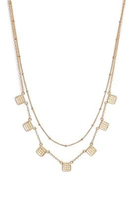 Anna Beck Layered Cushion Station Collar Necklace