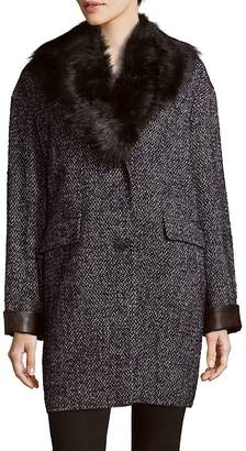 Dawn Levy Women's Kaba Faux Fur-Trimmed Coat