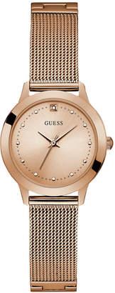 GUESS Women's Rose Gold Diamond Mesh watch 25MM