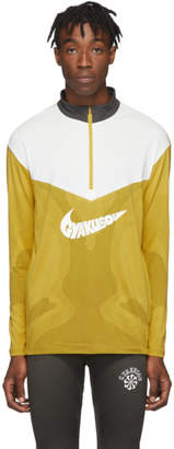Nike Yellow and Grey Gyakusou Half-Zip Sweater