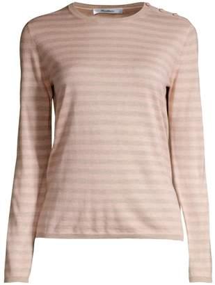 Max Mara Berma Stripe Silk & Cashmere Sweater