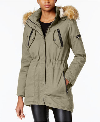 Madden Girl Juniors' Faux-Fur-Trim Hooded Parka $89.50 thestylecure.com