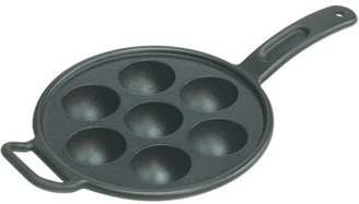 Lodge Aebleskiver Pan Seasoned Cast Iron, P7A3, with assist handle
