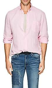 Hartford Men's Linen Button-Down Shirt-Pink
