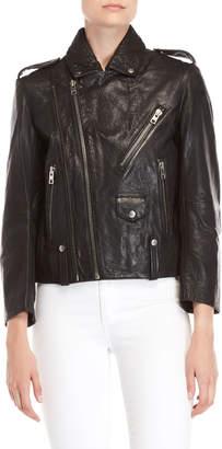 Zadig & Voltaire Liya Dynamite Leather Moto Jacket