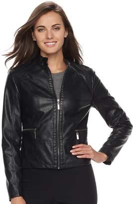 Apt. 9 Women's Faux-Leather Jacket
