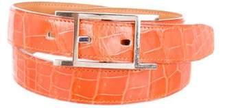 Hermà ̈s Quentin Crocodile Belt Hermà ̈s Quentin Crocodile Belt