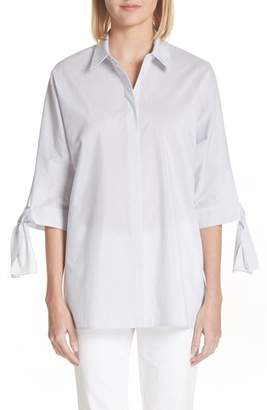 Lafayette 148 New York Breezy Stripe Saige Blouse
