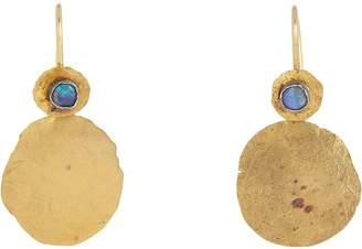 Judy Geib Women's Opal, Gold & Silver Bi-Polar Earrings